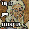 "hokuton_punch: Image of Isaiah from a medieval manuscript, captioned ""Oh no you didn't!"" (isaiah oh no you di'nt)"