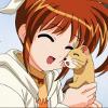 ihu2carl: Nanoha snuggling on ferret!Euno. ([civ] fangirl time!)