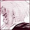 hokuton_punch: Manga panel of Sakura from Naruto in profile with her hair cut. (naruto sakura look at my back)