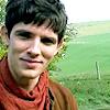 wordplay: (Merlin - Colin's cheekbones)