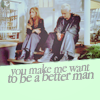 "lokifan: Spike & Buffy on the veranda, text ""you make me want to be a better man"" (Spike/Buffy: you make me want to be a be)"