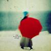 ciderpress: default: woman with red umbrella (Default)
