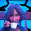 sharpest_asp: still of Aunt May from Into the Spider Verse drinking tea (General: Dreamwidth)