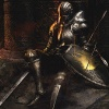 oneill: Demon's Souls - A Knight slumps against a wall, exhausted (miles to go)