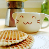 chococat: (kitty cup & waffles)