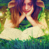 such_heights: a girl reads a book in the grass (stock: fairy tales)