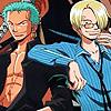 serasarahhhh: (OP - Zoro/Sanji arm-on-shoulder)