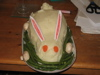 madrobins: It's a meatloaf.  Dressed up like a bunny.  (citibit)