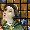 monksandbones: A detail of a medieval manuscript illustration featuring a singing monk in a green cowl (inappropriate monk love)