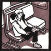 hunningham: Person sitting quietly on bus, contemplating life (man on bus)