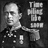 "copracat: anartctic explorer scott with text ""time piling like snow"" (scott)"