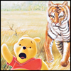 opusculus: Winnie the Pooh fleeing a tiger who is not Tigger. (Pooh fleeing tiger)