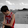 agalinis: Adam Siska sitting in front of a road looking sad (TAI: Sisky sad)