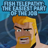 viedma: An icon of Aquaman telling us that fish telepathy is the easiest part of his job. (Fish Telepathy)