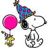 chanaleh: Snoopy and Woodstock, celebrating (birthday)
