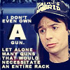 "chanaleh: Wayne's World: ""I don't even own *a* gun, let alone many guns that would necessitate an entire rack."" (gunrack)"