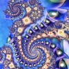 strange_loop: Mainly-purple spiralling fractal on a blue background. (fractal)