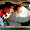 jesse_the_k: profiles of Due South's Ray Kowalski and Benton Fraser staring through windshield (dS F/K fast car)
