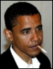 mazzie: (obama smoking)