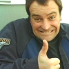 telesilla: david hewlett doing the thumbs up (david thumbs up)