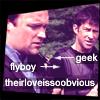 kate: John=flyboy Rodney=geek (theirloveissoobvious) (SGA: John/Rodney flyboy/geek)