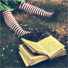 inbetweencabs: (book and shoes)