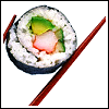sushimustwrite: sushi with a chopstick (pic#144432)