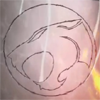 thundercats_dr: screen captured image of Thundercats symbol carved in stone (for Thundera!)