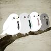 crowfeet: icon credit: treatbox @ lj (birds in neckties)