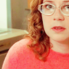 alto_too: pam forgot to bring her contact lenses on a sleepover (nerdy glasses, nerdy pam glasses)