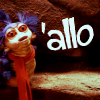 raenenikki: The worm from Labyrinth saying 'Allo! (Default)