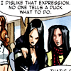 batman: Laura Kinney/X-23 from that Pixie mini that made no sense. (she's right you know.)