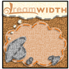 jjhunter: Gray-faced sheep w/ dreambubble reading 'dreamwidth'; texture of sheep, background is cloth with 'stitches' around edges (orange stitched dreamsheep)