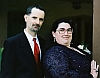 gridlore: Doug with Kirsten, both in nice clothes for a wedding. (Me - with Kirsten)