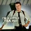merrily: He's a little teapot. (bones, seeley.booth)