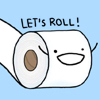 """spanner: by <lj site=""""livejournal.com"""" user=""""iconzicons""""> (Natalie Dee: toilet roll)"""