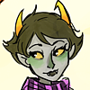 tendtoenunciate: Kanaya with a pleasant green flush and a scarf, looking at something offscreen warmly. (Amused)