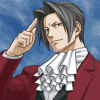 truthsnomiracle: Edgeworth holds his finger to his temple with a confident near-smile. (This is my favorite part, Good thinking)