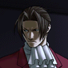 truthsnomiracle: Edgeworth glances over his shoulder with a very firm, disapproving expression. (Firm, No one gets away with that in MY office)