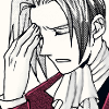 truthsnomiracle: Edgeworth is rubbing his forehead with his fingers to stave off a headache. (Must I explain again?, This is giving me a headache)