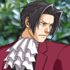 truthsnomiracle: Edgeworth glares into the distance with a serious expression. (srs face of srs prawskyootr is srs, Glare #2)