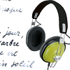 tsukara: Panasonic RP-HTX7 Stereo Headphones in green (music in my bones and in my blood)