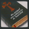 "orbitaldiamonds: ""bible"" with cross, underneath, ""the gospel according to st. bastard"" ([ heathenry ] the gospel of st. bastard)"