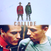 lilyleia78: Fraser and Ray K captioned Collide (Due South: Collide)