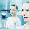 goodbyebird: Black Swan: Nina looks back at herself in the mirror, clearly distressed. (ⓕ she's trying to replace me)