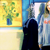 bell: Amber in her apartment being confronted by House (still life portrait)