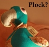 brightlywoven: Pickwick the dodo, one of a kind, hand made by my stepmum (biscuit)