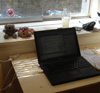 juliet: My laptop on my desk in Sydney (freelance laptop)