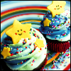 hitachiin: ([food] stars and rainbows)