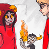 psych0p0mps: chatting with Dave while Tavros starts some sick fires in the background (☉ d; help the word go round)